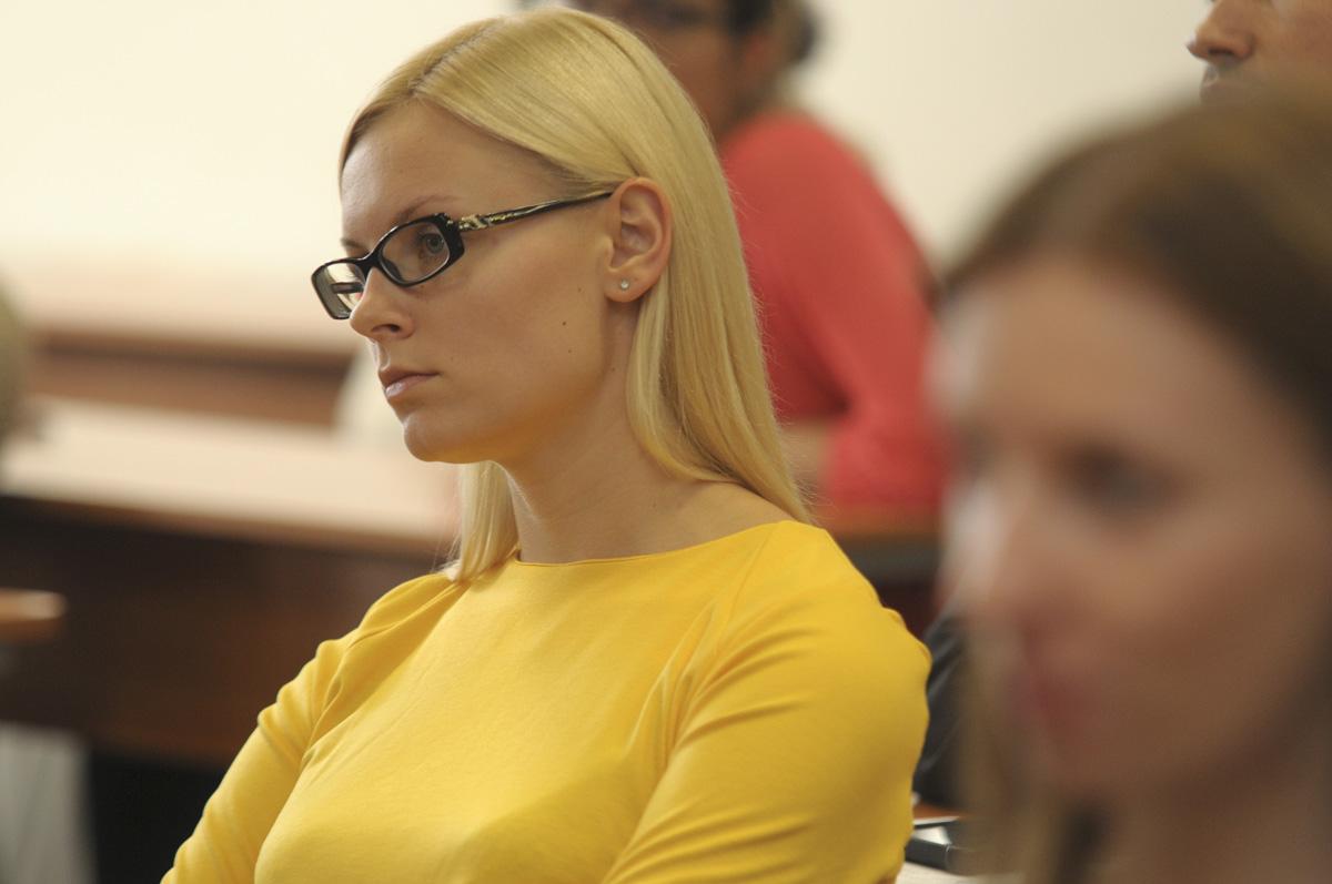 LEU studentė I. Kušlytė (nuotraukos autorė Solveiga Černiūtė)