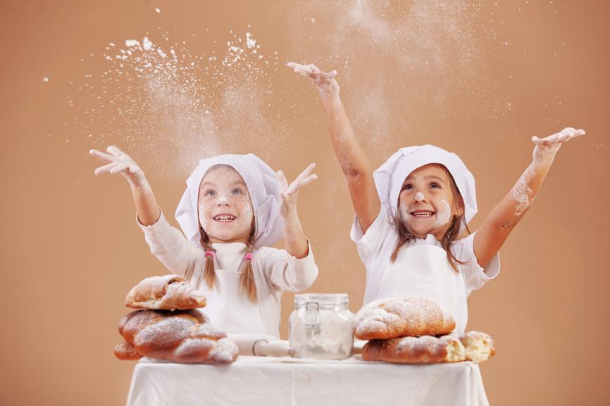 Little cute bakers studio shot