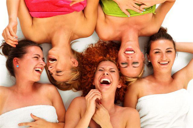 Girls in spa