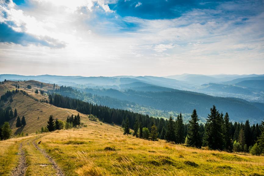Autumn time in Carpathian mountains